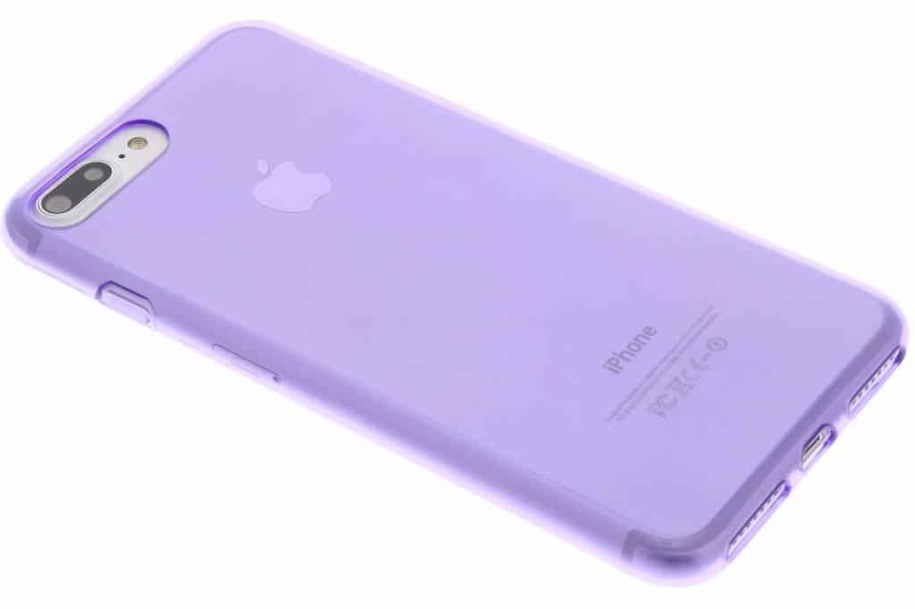 Paarse transparant gel case voor de iPhone 7 Plus