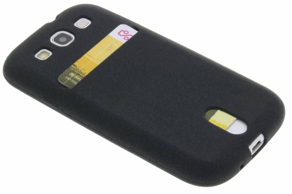 Zwarte TPU siliconen card case voor de Samsung Galaxy S3 / Neo