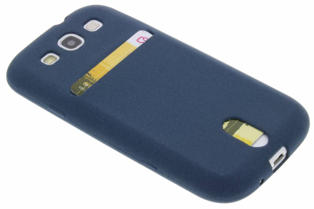 Blauwe TPU siliconen card case voor de Samsung Galaxy S3 / Neo