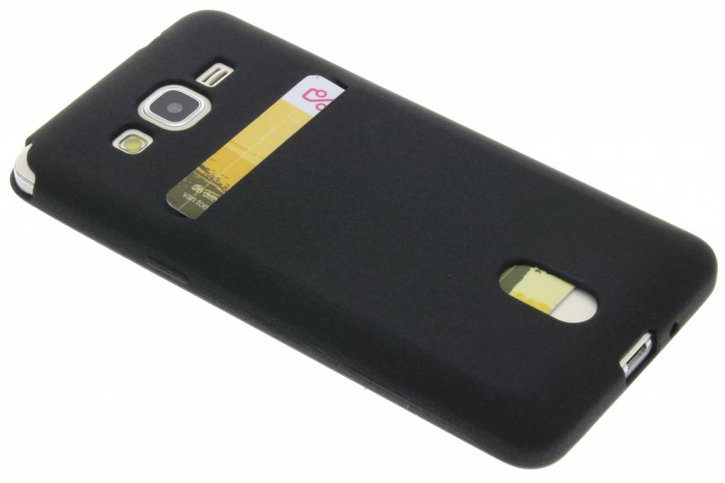 Zwarte TPU siliconen card case voor de Samsung Galaxy Grand Prime