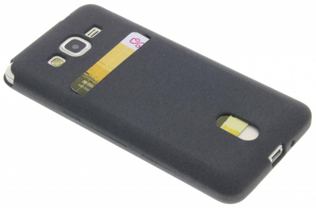 Grijze TPU siliconen card case voor de Samsung Galaxy Grand Prime