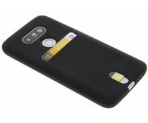 Zwart TPU siliconen card case LG G5 (SE)