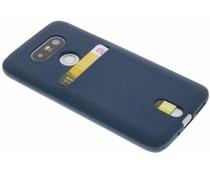 Donkerblauw TPU siliconen card case LG G5 (SE)