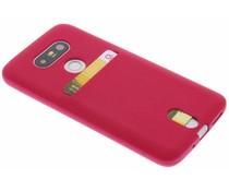 Fuchsia TPU siliconen card case LG G5 (SE)