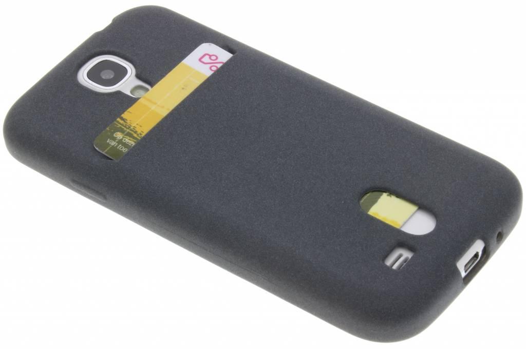 Grijze TPU siliconen card case voor de Samsung Galaxy S4