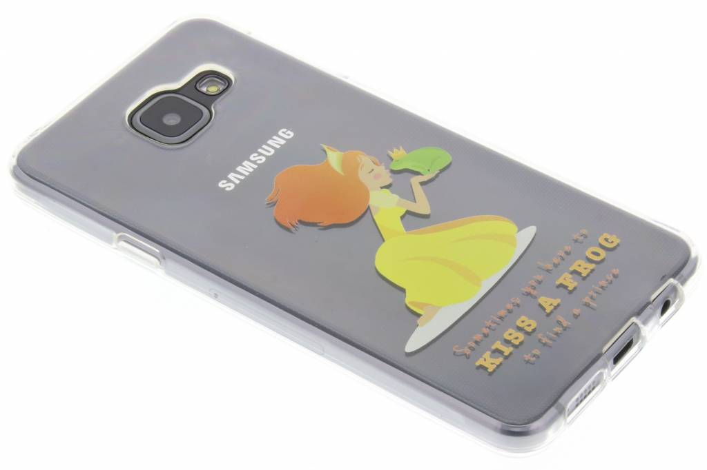 Kiss the frog Sprookjes TPU siliconen hoesje voor de Samsung Galaxy A3 (2016)