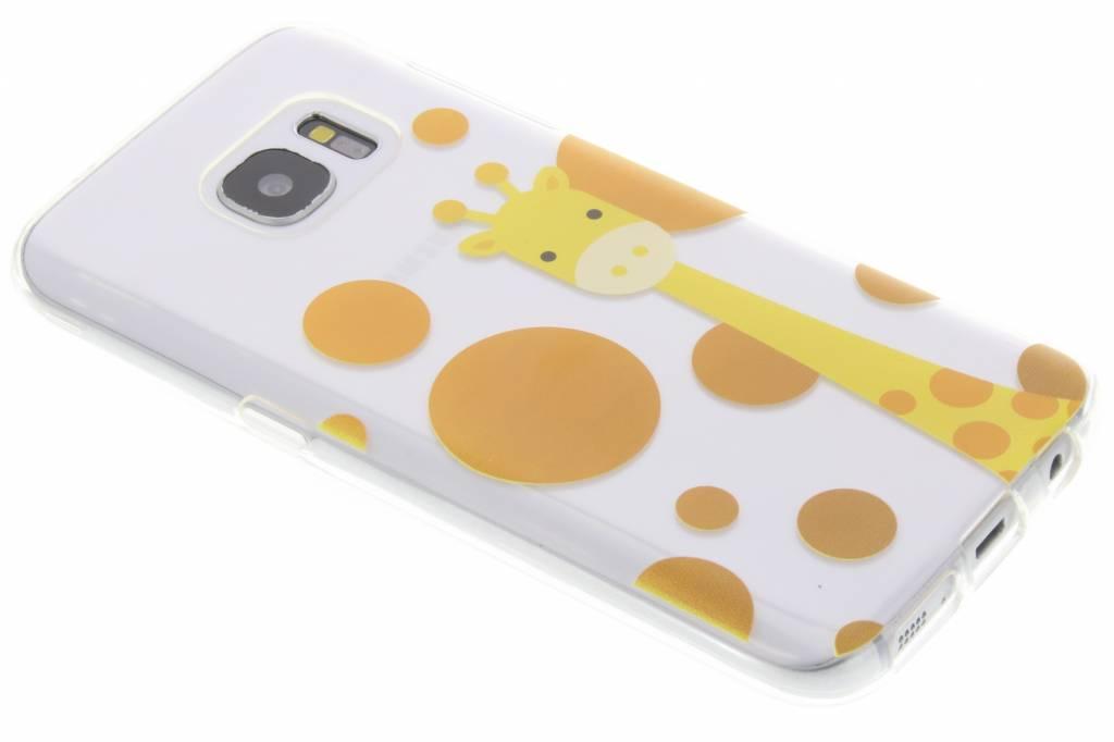 Giraffe Zoo TPU siliconen hoesje voor de Samsung Galaxy S7