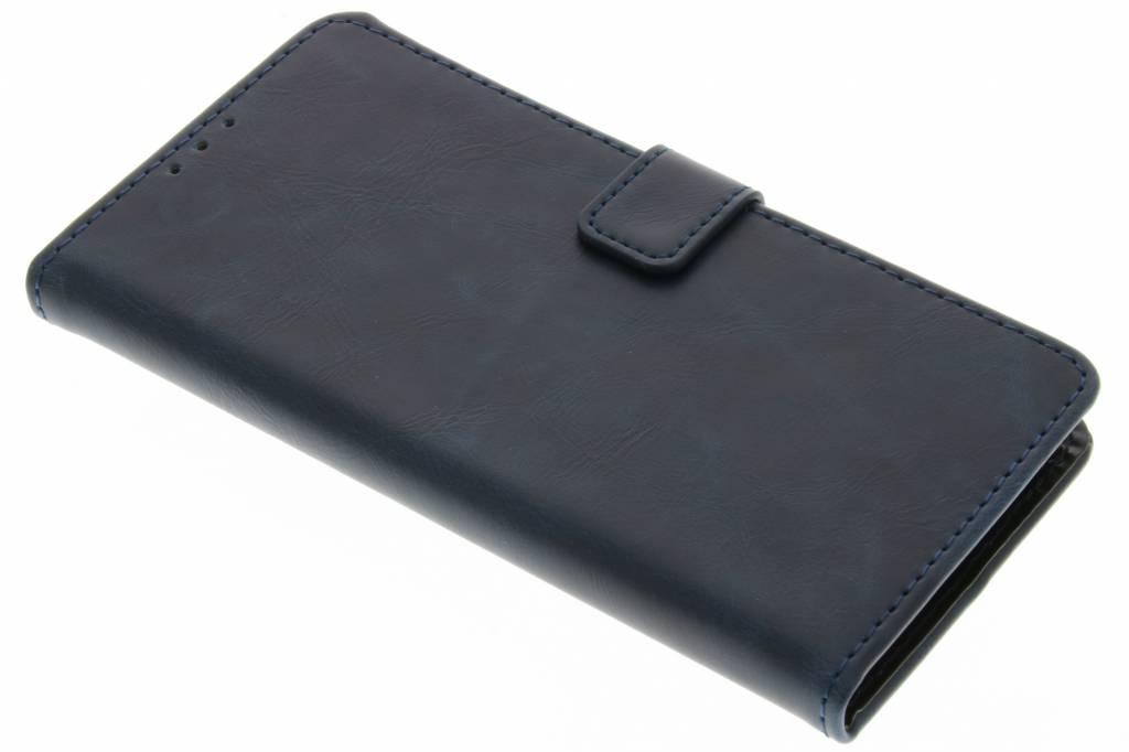 Donkerblauwe luxe leder booktype hoes voor de Motorola Moto G4 (Plus)
