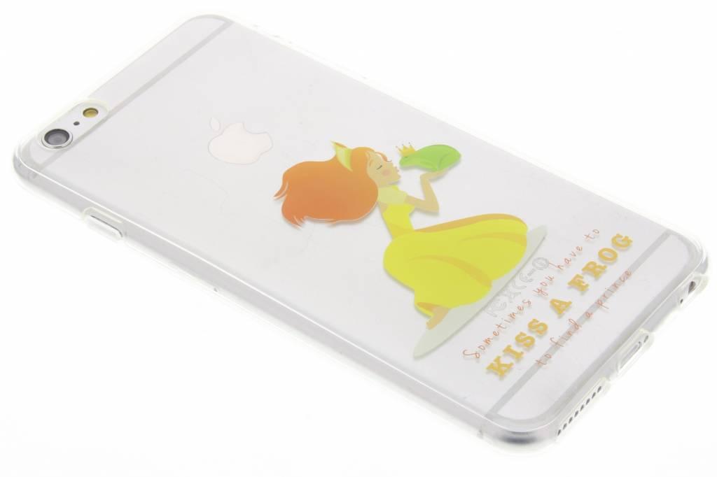 Kiss the frog Sprookjes TPU siliconen hoesje voor de iPhone 6(s) Plus