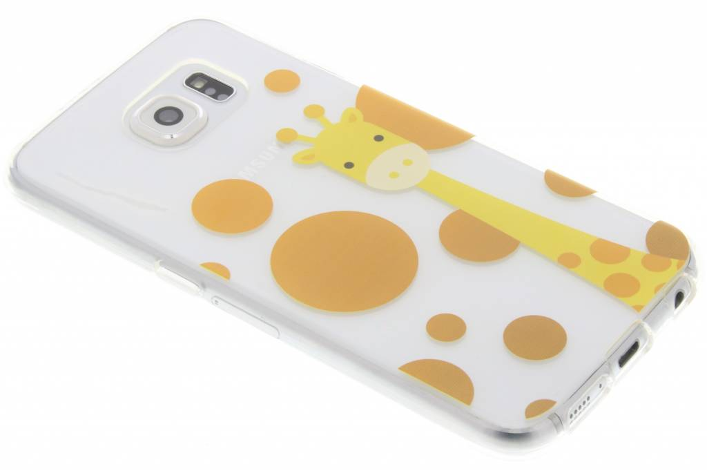 Giraffe Zoo TPU siliconen hoesje voor de Samsung Galaxy S6