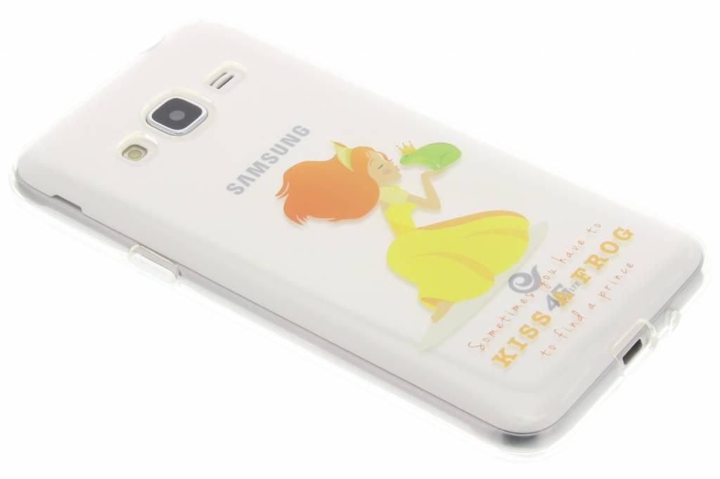 Kiss a frog Sprookjes TPU siliconen hoesje voor de Samsung Galaxy J3 / J3 (2016)