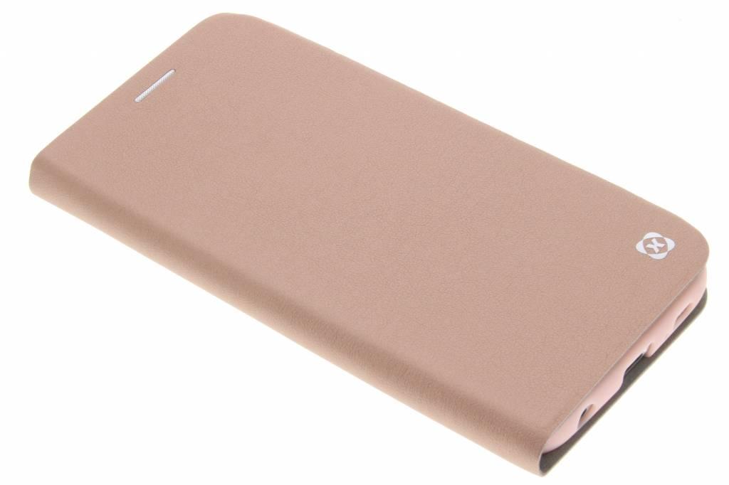 Roze slim TPU booktype hoes voor de Samsung Galaxy S6 Edge