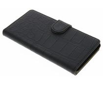 Zwart krokodil booktype hoes Wiko Pulp 4G