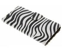 Zebra booktype hoes Wiko Pulp 4G
