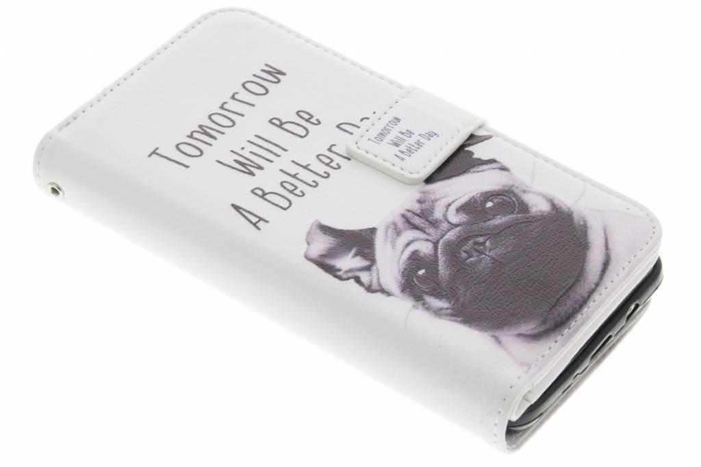 Pug design TPU portemonnee voor de Samsung Galaxy S4