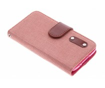 Linnen look TPU booktype hoes Galaxy S5 (Plus) / Neo
