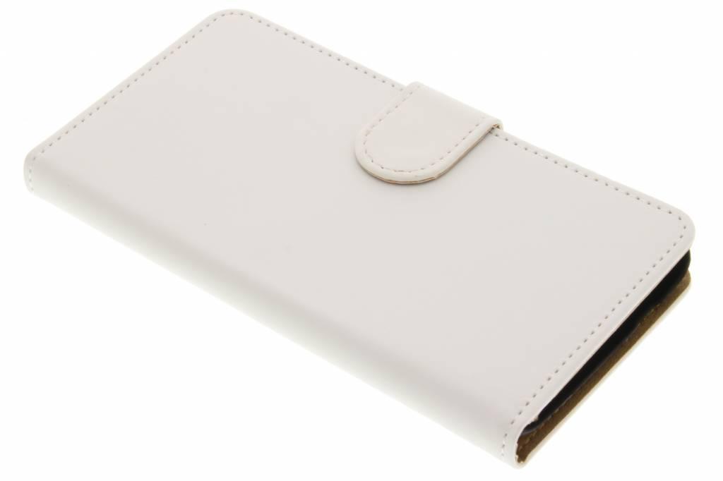 Witte effen booktype hoes voor de Wiko Rainbow Jam 3G