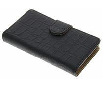 Zwart krokodil booktype hoes Nokia Lumia 520 / 525