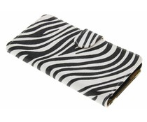 Zebra booktype hoes Wiko Rainbow Jam 4G