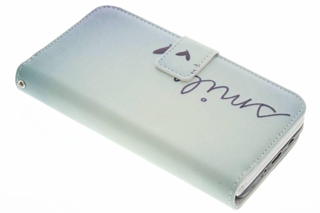 Smile design TPU portemonnee voor de iPhone 6(s) Plus