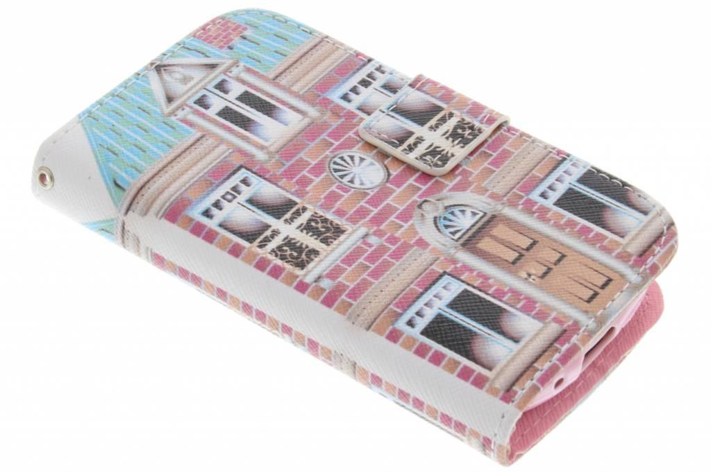 Huis design TPU booktype hoes voor de Samsung Galaxy S3 Mini