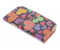 Design TPU booktype hoes Samsung Galaxy S3 Mini