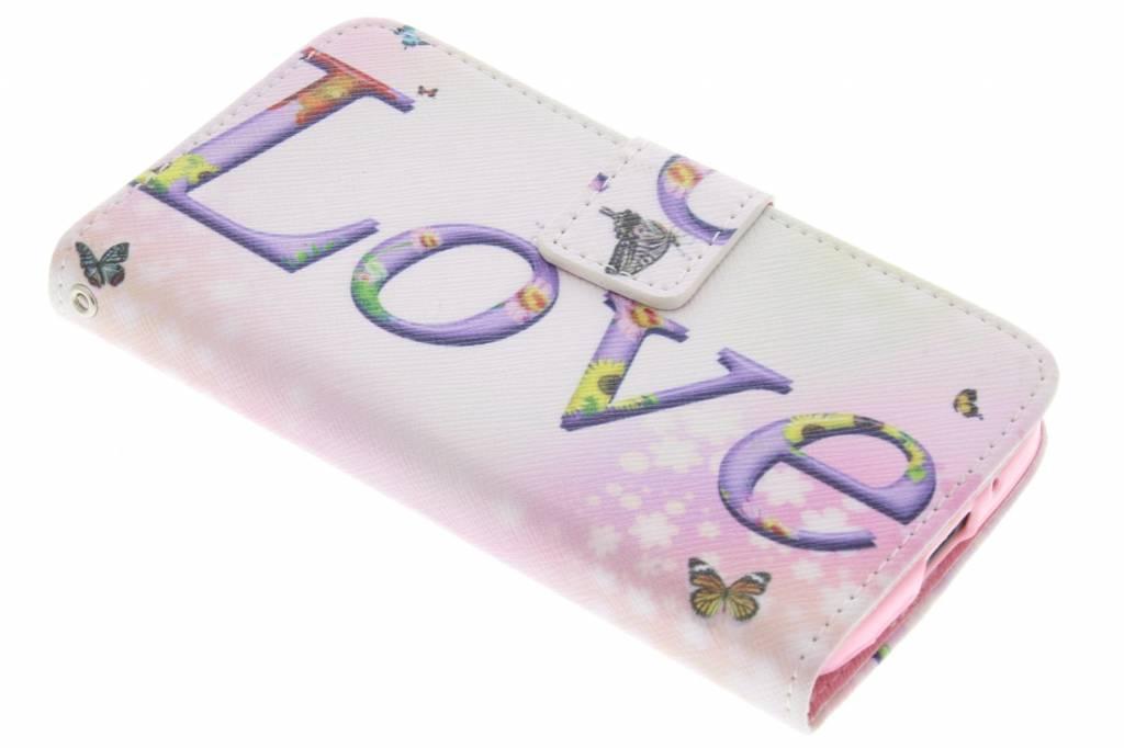 Love design TPU booktype hoes voor de Motorola Moto G