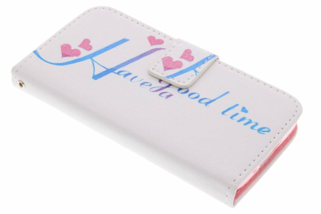Have a good time design TPU booktype hoes voor de Samsung Galaxy S5 Mini