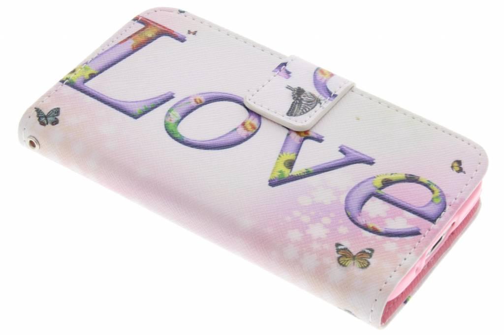 Love design TPU booktype hoes voor de Samsung Galaxy S5 Mini