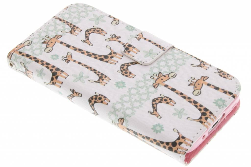 Giraffes design TPU booktype hoes voor de Samsung Galaxy S5 Mini