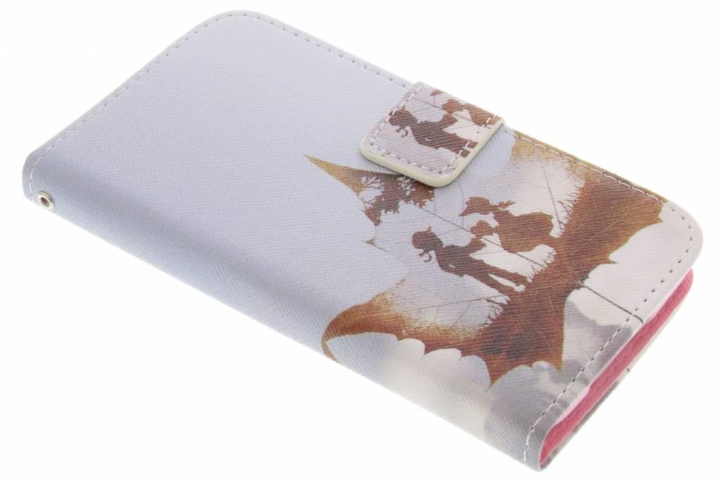 Jongen en meisje design TPU booktype hoes voor de Samsung Galaxy S5 (Plus) / Neo