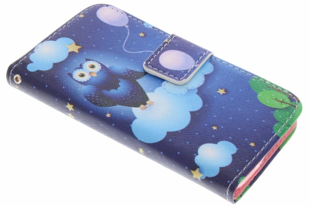 Uil design TPU booktype hoes voor de Samsung Galaxy S5 Mini