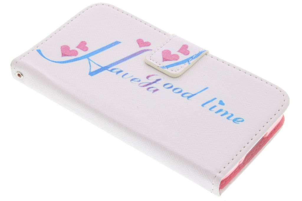 Have a good time design TPU booktype hoes voor de Samsung Galaxy S5 (Plus) / Neo