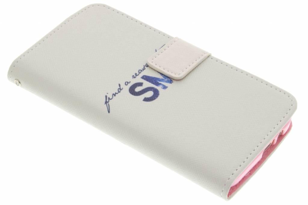 Smile design TPU booktype hoes voor de HTC One M9