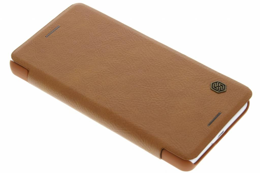 Nillkin Qin Leather slim booktype hoes voor de Sony Xperia X Performance - Bruin