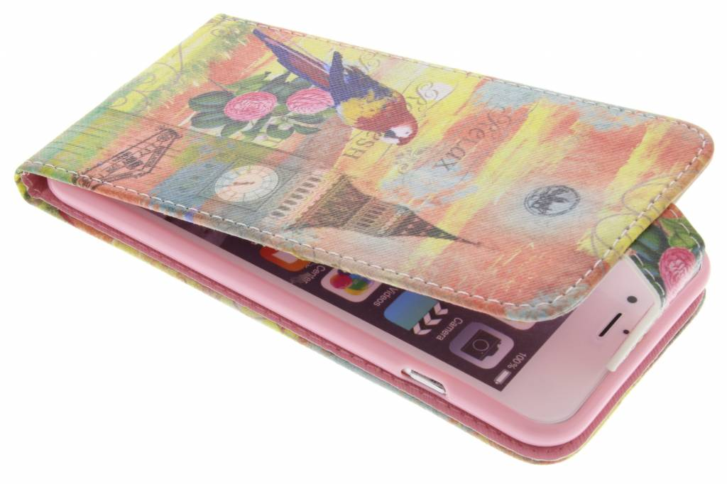 Big ben papegaai design TPU flipcase voor de iPhone 6(s) Plus