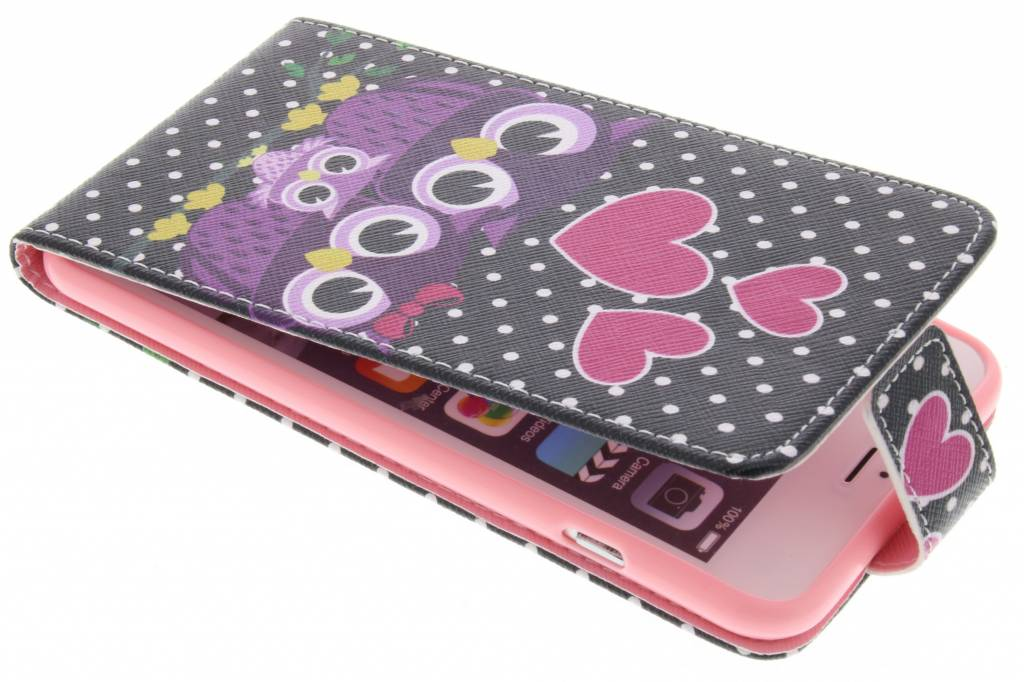 Uiltjes design TPU flipcase voor de iPhone 6(s) Plus