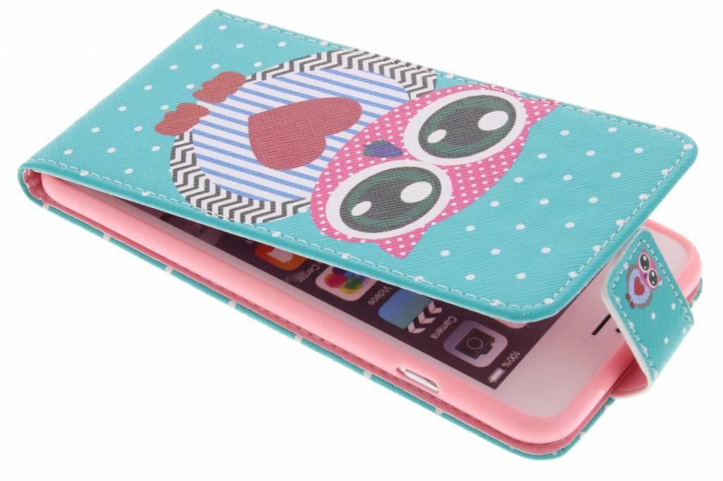 Uil design TPU flipcase voor de iPhone 6(s) Plus