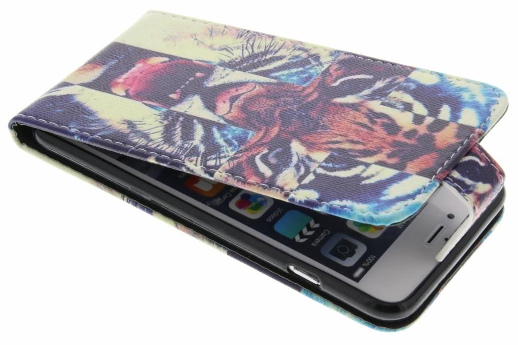 Tijger design TPU flipcase voor de iPhone 6(s) Plus
