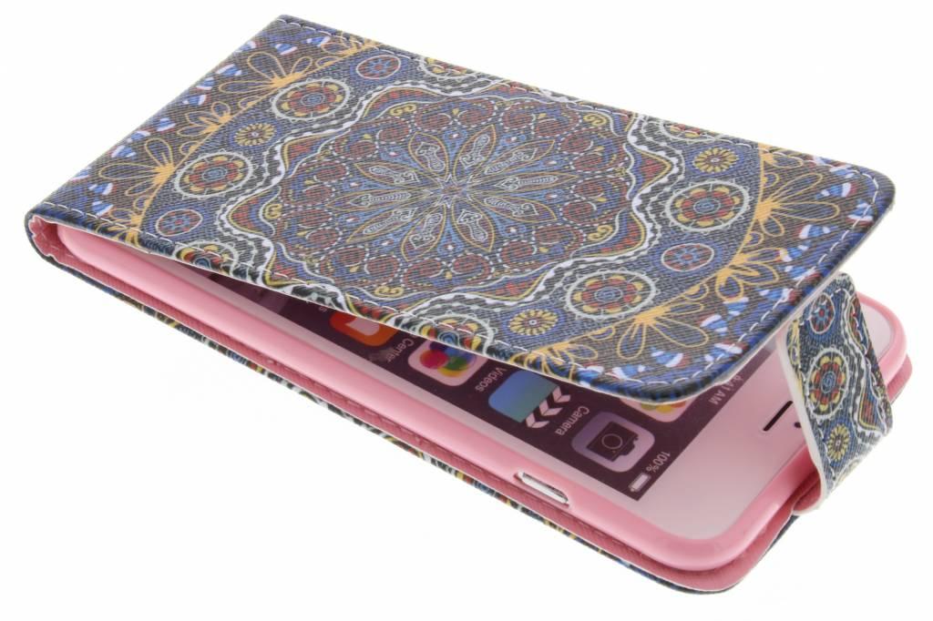 Mandala design TPU flipcase voor de iPhone 6(s) Plus