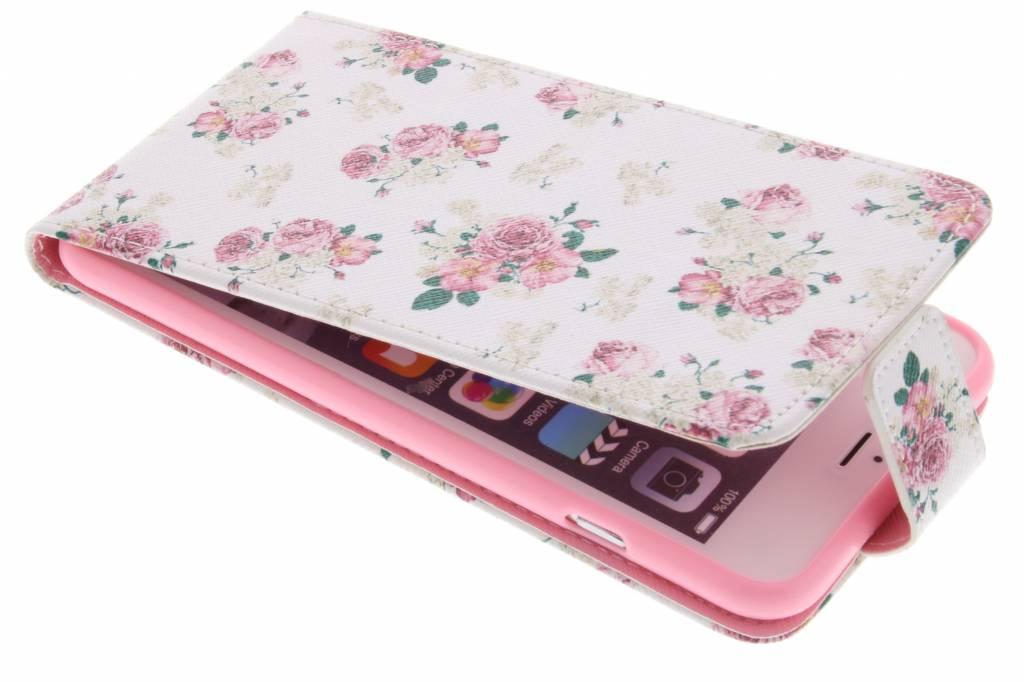 Roosjes design TPU flipcase voor de iPhone 6(s) Plus