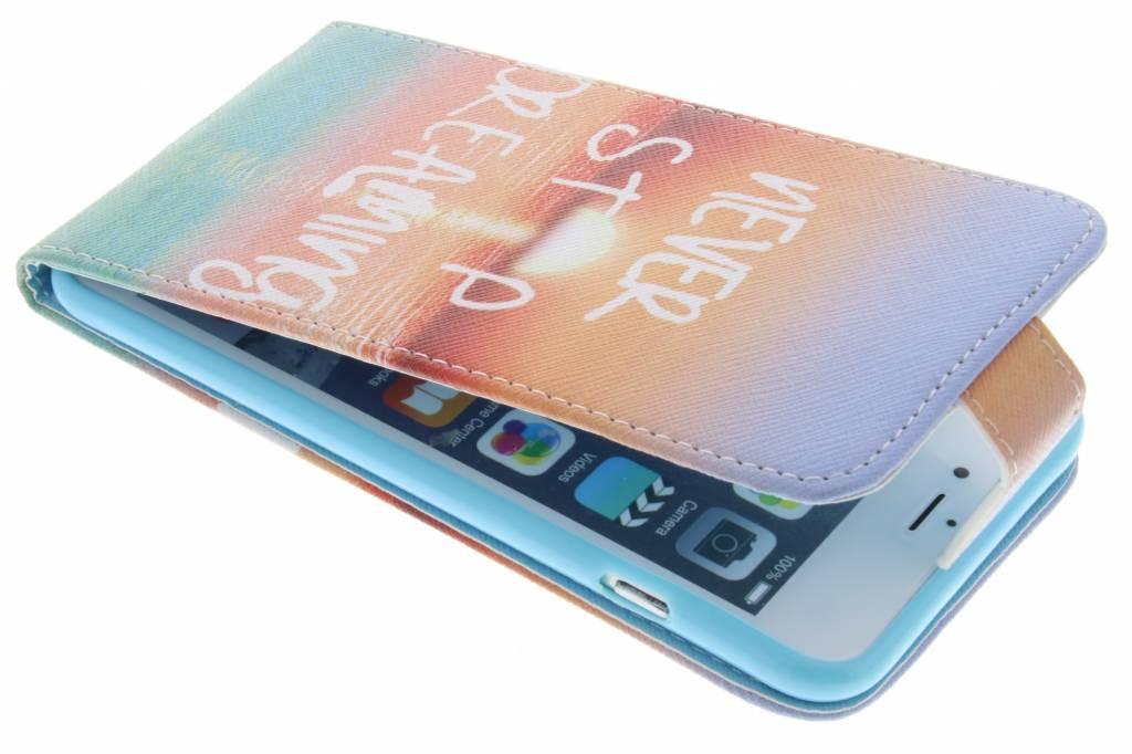 Never stop dreaming design TPU flipcase voor de iPhone 6(s) Plus