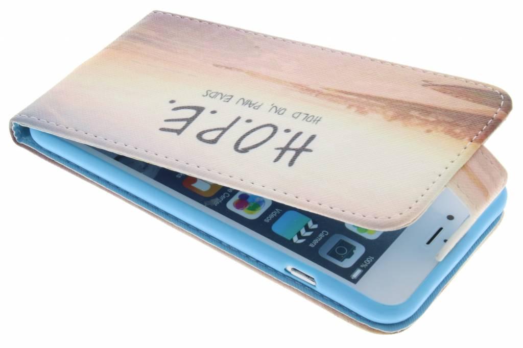 Hope design TPU flipcase voor de iPhone 6(s) Plus