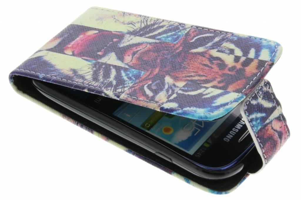 Tijger design TPU flipcase voor de Samsung Galaxy S3 Mini