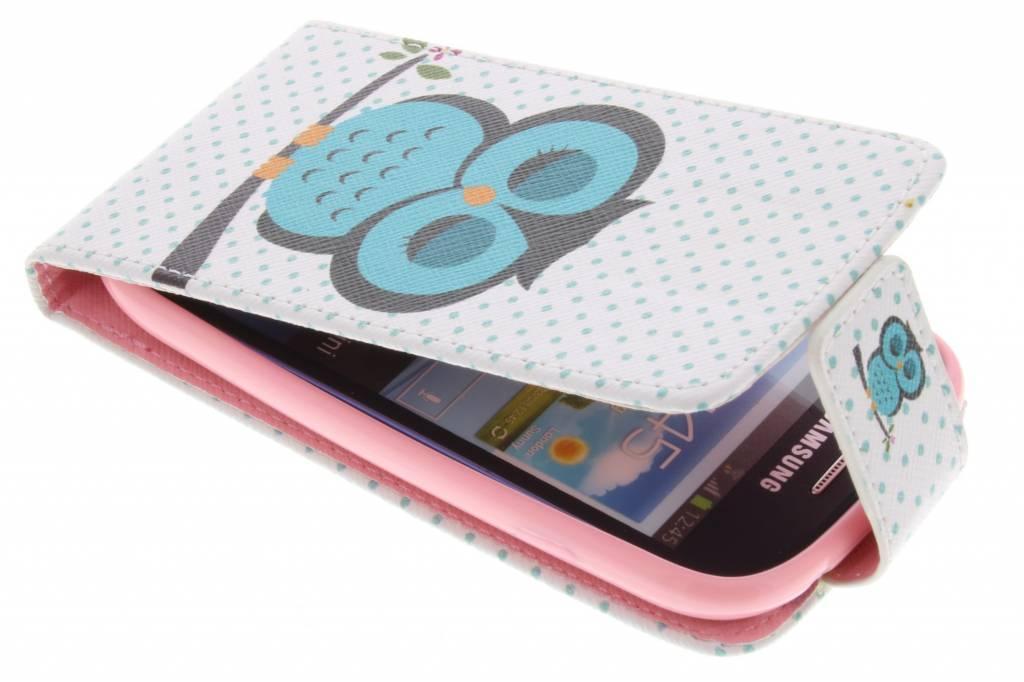Uil design TPU flipcase voor de Samsung Galaxy S3 Mini