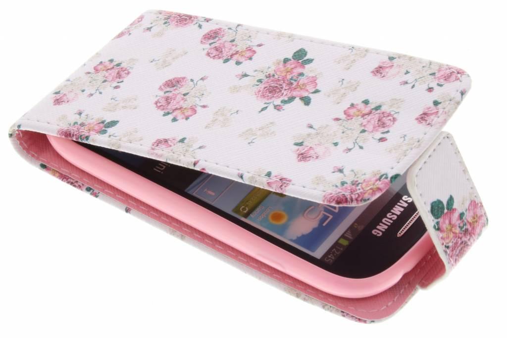 Roosjes design TPU flipcase voor de Samsung Galaxy S3 Mini