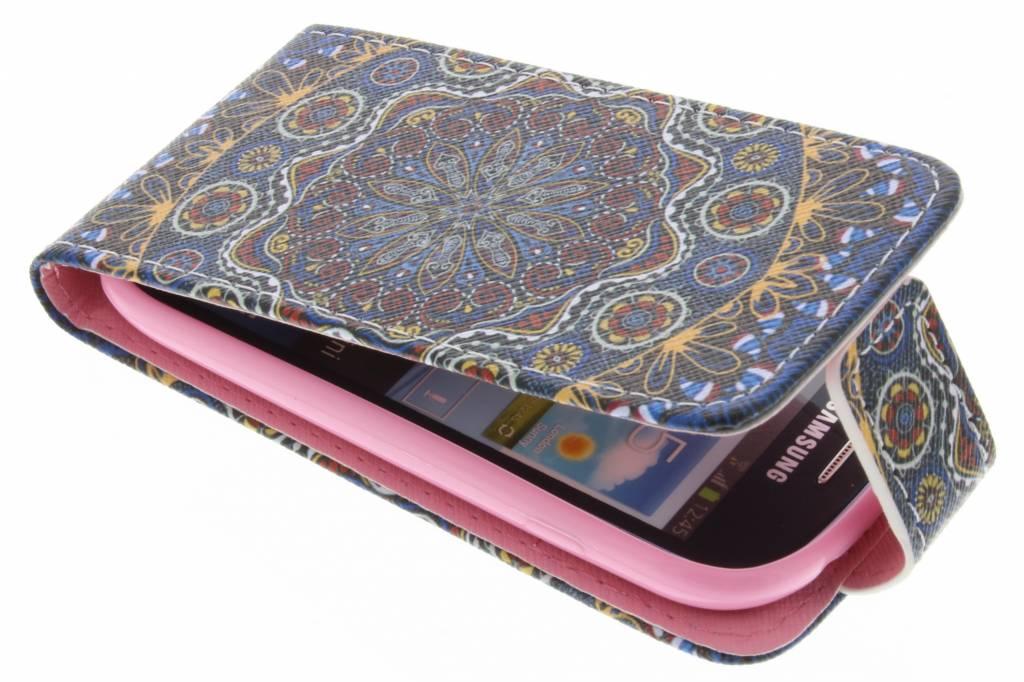 Mandala design TPU flipcase voor de Samsung Galaxy S3 Mini
