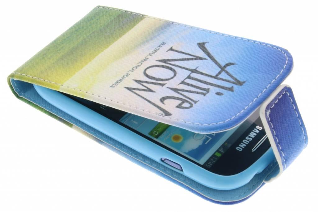 Alive now design TPU flipcase voor de Samsung Galaxy S3 Mini
