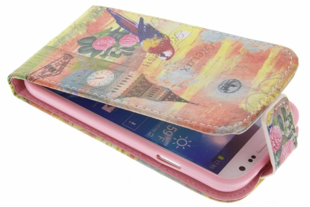 Big Ben papegaai design TPU flipcase voor de Samsung Galaxy S4