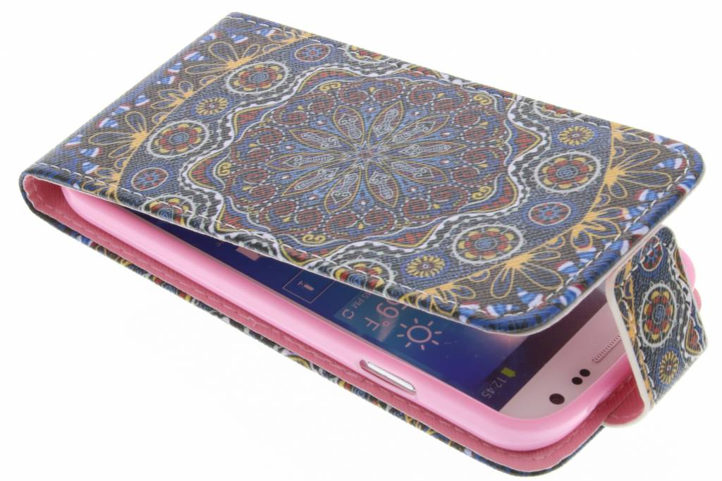 Mandala design TPU flipcase voor de Samsung Galaxy S4